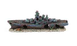 Atlantis Destroyer ship small / aquarium decoratie schip