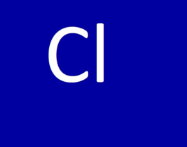 De Cl waarde (chloor)
