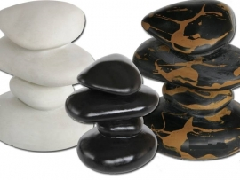 SF Zen Deco Pebbles Wit aquarium decoratie