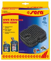 Sera professional uvc Xtreme 800/1200 zwarte filterspons