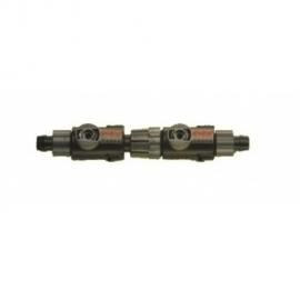 Combi. 2 kranen met snelkoppeling voor Slang 16/22mm