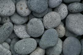 Beach Pebbles grijs 3-6cm  2KG  aquarium decoratie stenen