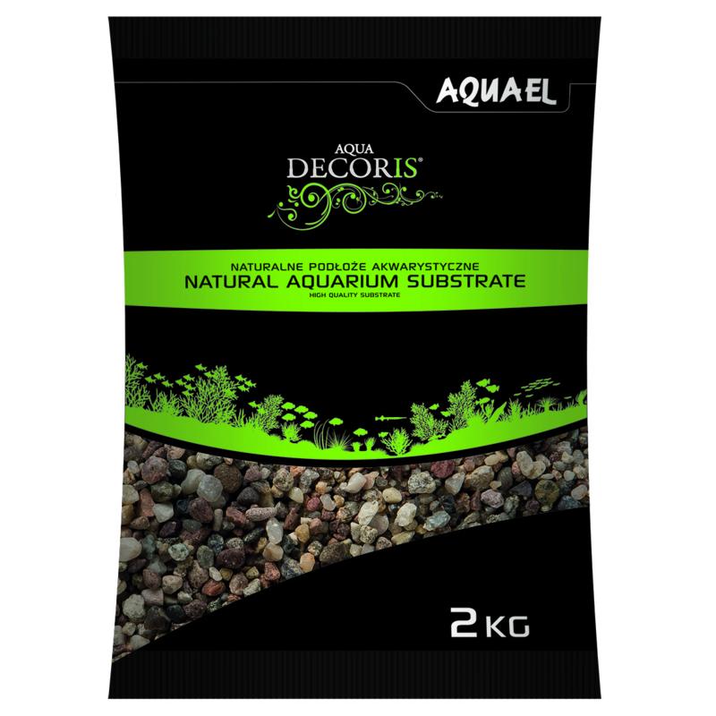 Natural Multicolored Gravel 3-5mm  2KG  aquarium grind