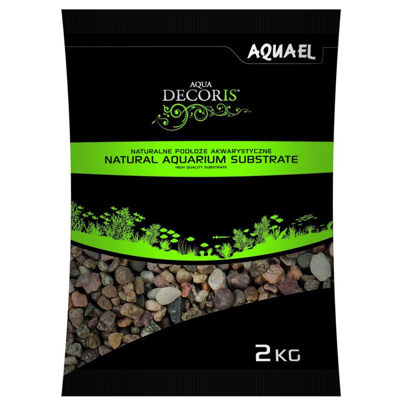 Natural Multicolored Gravel 5-10mm  2KG  aquarium grind