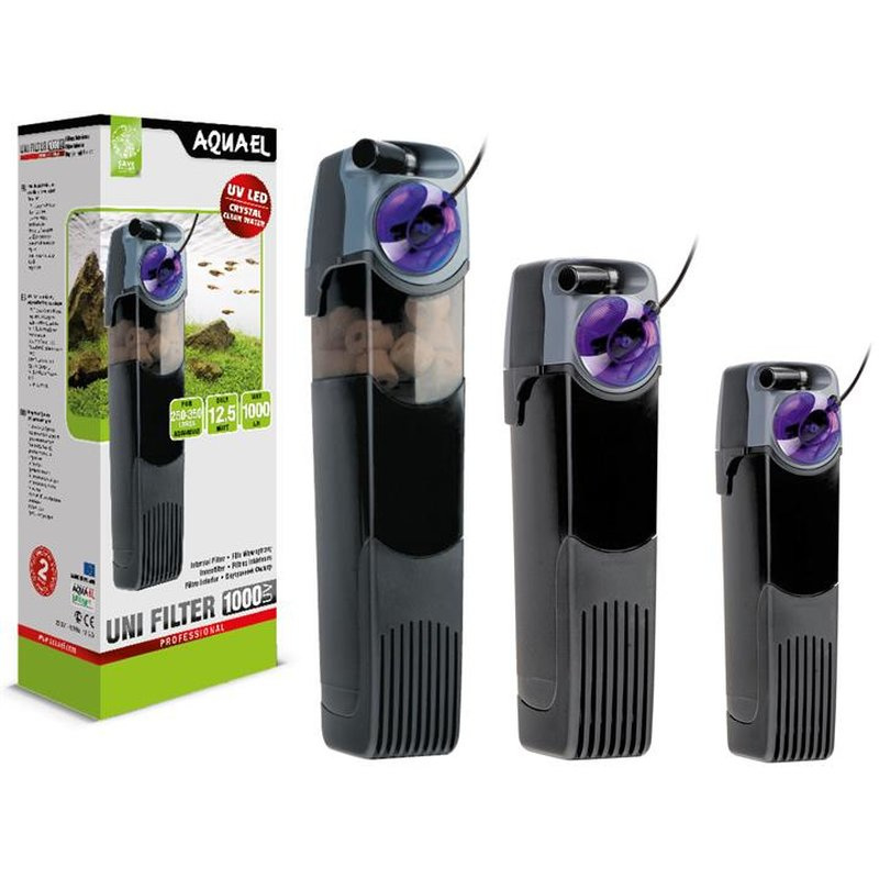 Aquael UNI filter met UV 750 aquarium binnenfilter