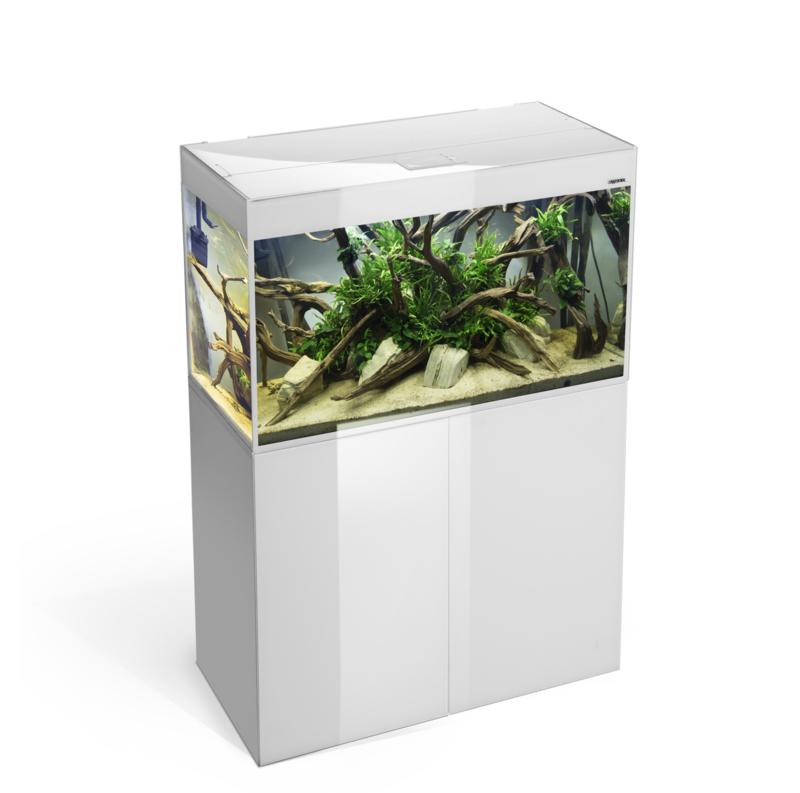 Osaka Glossy aquarium 80 White *Safe Tank* + Meubel