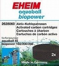 Eheim Aquaball 45 en Biopower 160-240 koolstof filterpatronen