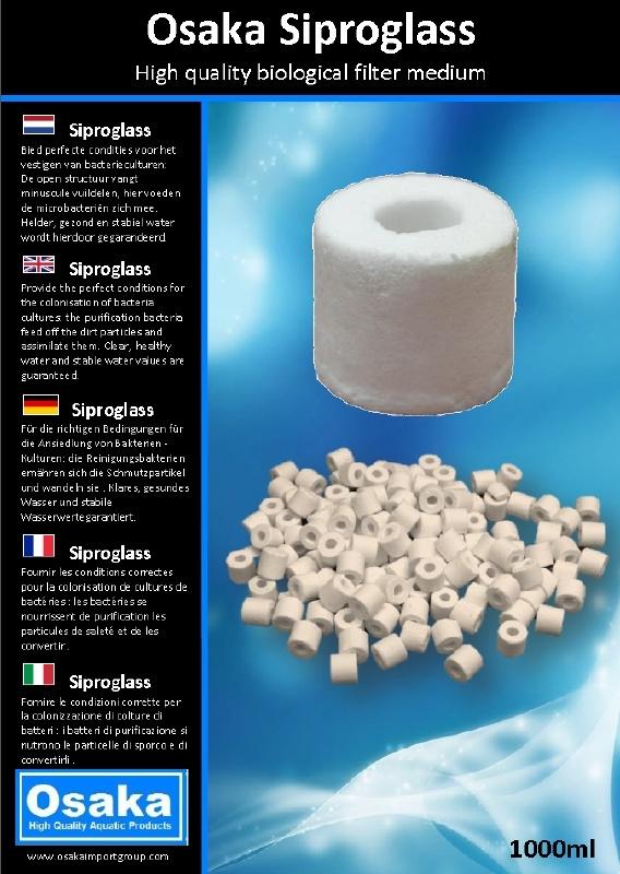 Osaka Siproglass 1000ml biologisch filtermateriaal