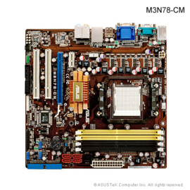 1 Upgradeset: Asus M3N78-CM + AMD Phenom X3 8650 + 4GB DDR2