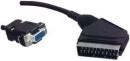 21p scart plug naar 15p High-Density kontra D-plug. ( vga )