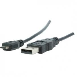 USB 2.0 kabel A mannelijk - micro B mannelijk zwart 1.80