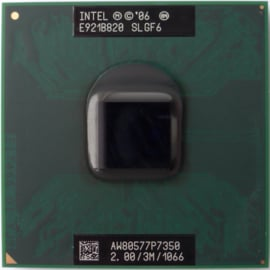 CPU Mobile Intel Core 2 Duo P7350