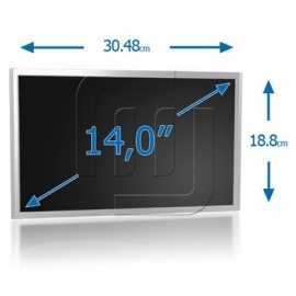 "14"" LED WXGA HD 1366x768 TFT Glossy Slim Scherm [LED140S00G]"