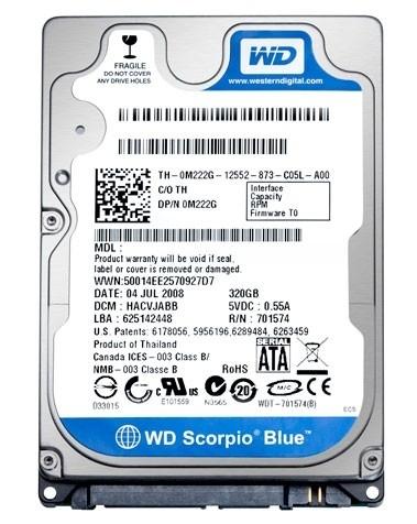 1,0TB WD Blue Mobile WD10SPZX SATA3/ 128MB/5400rpm