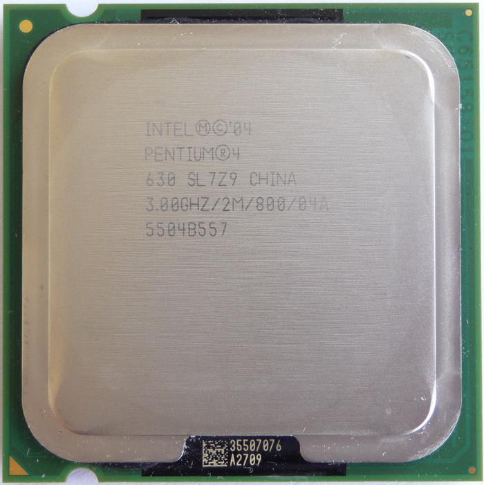 CPU Desktop Intel Pentium 4 630