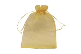 Organza zakjes goud -  50 stuks (middel)
