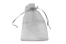Organza zakjes zilver - 50 stuks (klein)
