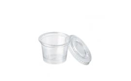 Plastic cup voor creme 25 stuks