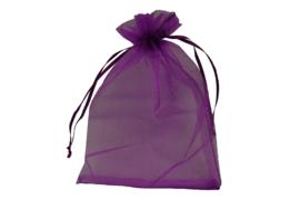 Organza zakjes paars -  50 stuks (middel)
