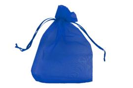 Organza zakjes blauw -  50 stuks (middel)