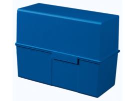 Kaartenbak blauw