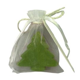 Kerstboom zeepje 50 stuks incl. organza zakje en tag