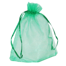 Organza zakjes groen - 50 stuks (klein)