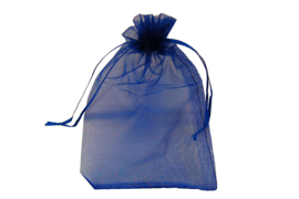Organza zakjes blauw - 50 stuks (klein)