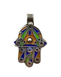 Handje van Fatima hanger zilver Nasrin