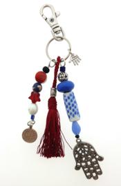 sleutelhanger | tassieraad red blue