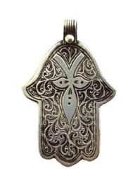 hanger handje van Fatima zilver 'Delila'