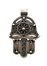 Handje van Fatima hanger zilver  Imani