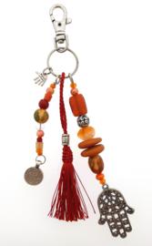 sleutelhanger | tassieraad orange red