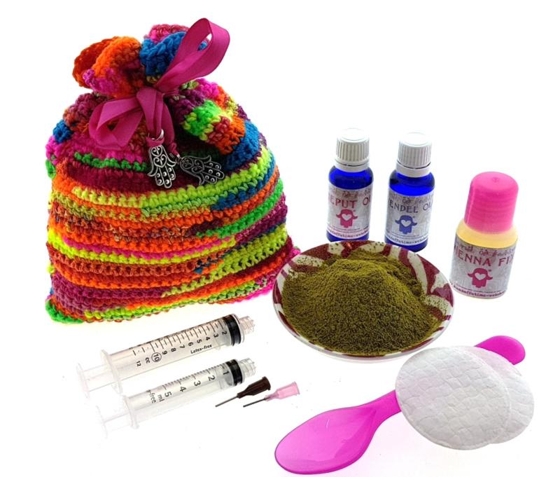 Henna Doe-het-zelf set DIY multicolor