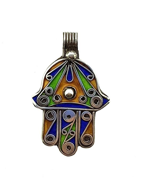 hanger handje van Fatima zilver 'Nasrin'