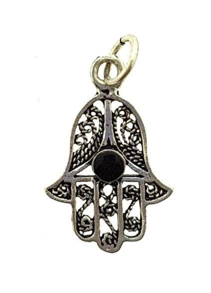 hanger handje van Fatima zilver 'Arifa'