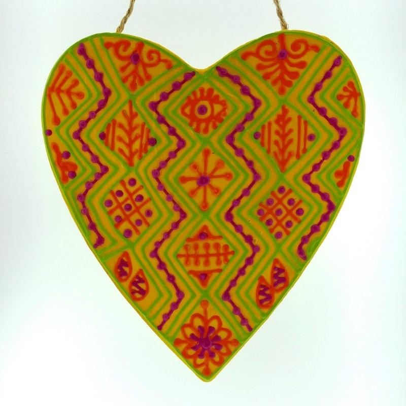 happy henna heart