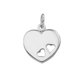 zilveren hanger hartje