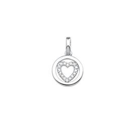zilveren hanger hart zirkonia