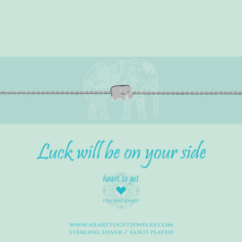 zilveren armband ''Luck will be on your side''