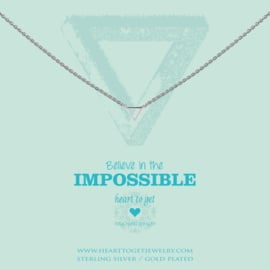 zilveren ketting ''believe in the impossible''