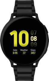 Samsung Active smartwatch stalen band 44 mm zwart