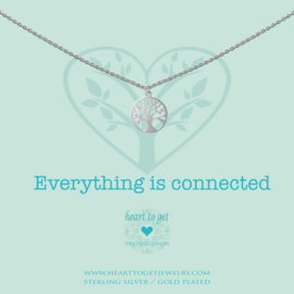 zilveren ketting ''everything is connected''