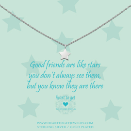 zilveren ketting ''goodfriends are like stars''