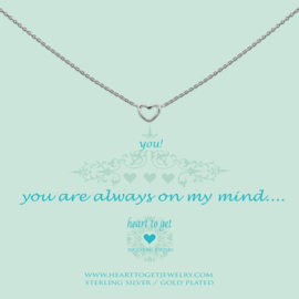 zilveren ketting ''you are always on my mind''