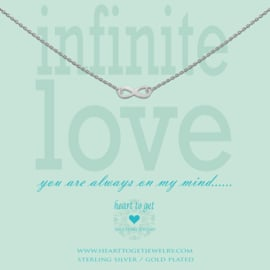 """zilveren ketting """"infinite love"""""""