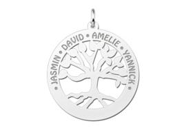 Zilveren familiehanger stamboom