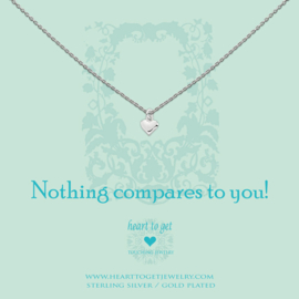zilveren ketting ''nothing compares to you''