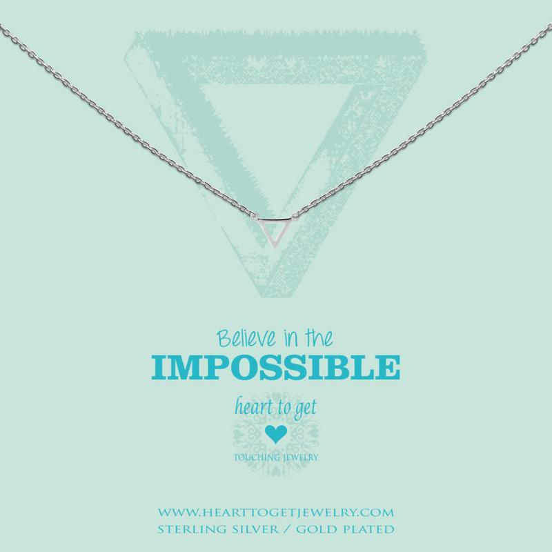 zilveren ketting ''believe in the impossible''