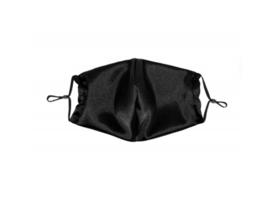Satijnen Mond Masker - Zwart - Beauty Pillow
